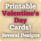 Valentine's Day Cards to print