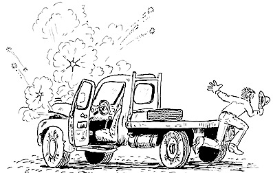 Exploding pickup