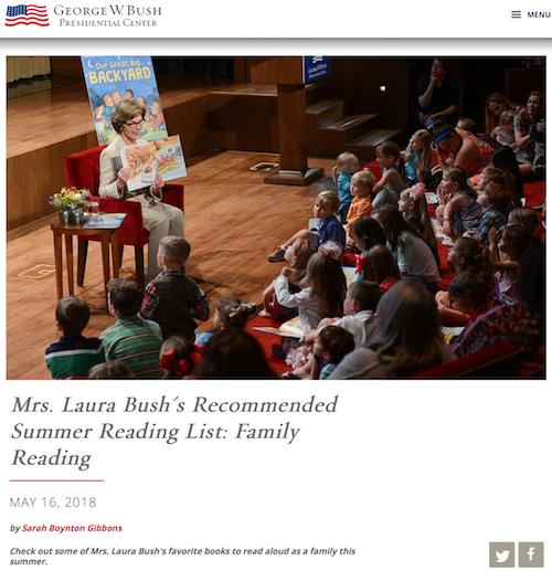 Laura bush summer reading list